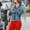 Hilary Duff grabs a coffee from Starbucks in Studio City Featuring: Hilary Duff Where: Los Angeles, California, United States When: 22 Mar 2014 Credit: WENN.com