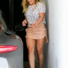 Hillary Duff pulls into a tight parking spot as she arrives at a gym in West Hollywood. The fashionable star was in good spirits when she opened her door, after she realized how close she parked to the garage wall. Featuring: Hillary Duff Where: Los Angeles, California, United States When: 21 Feb 2014 Credit: WENN.com