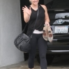 Hilary Duff leaving the gym in good spirits