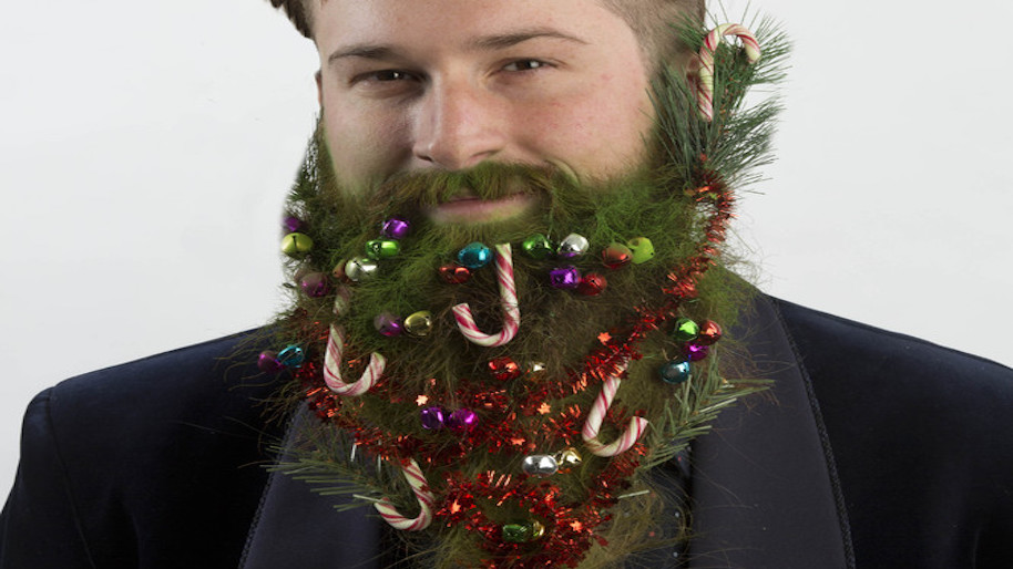 dont forget the candy canes - Christmas Beard