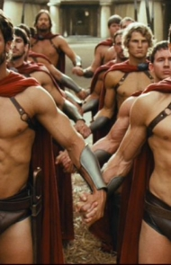 The Spartans encouraged homosexuality because it boosted morale on the battlefield.