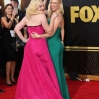 Celebrities arrive at 67th Emmys Red Carpet at Microsoft Theater. Featuring: Elisabeth Moss, January Jones Where: Los Angeles, California, United States When: 20 Sep 2015 Credit: Brian To/WENN.com