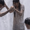 Katie Holmes and Luke Kirby filming 'Mania Days' in the fountain of Washington Square Park in New York City Featuring: Katie Holmes Where: New York, NY, United States When: 21 May 2013 Credit: TNYF/WENN.com