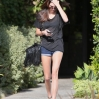 Kendall Jenner is seen arriving at Andy Lecompte Hair salon