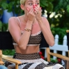 """Miley Cyrus visits ABC's """"Good Morning America"""" on July 15, 2013 in New York"""