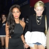 Miley Cyrus and Nicole Scherzinger go to The Box nightclub together