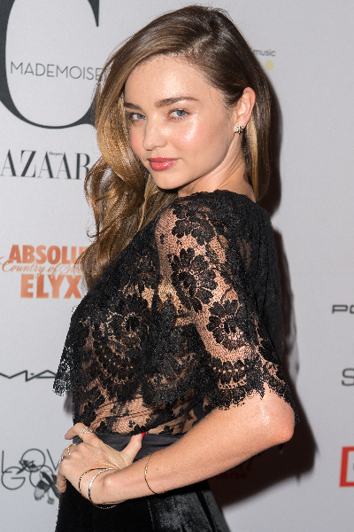 """Model Miranda Kerr attends """"Mademoiselle C"""" New York Premiere at Florence Gould Hall"""