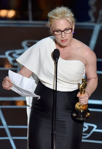 Actress Patricia Arquette accepts Best Supporting Actress for 'Boyhood' onstage during the 87th Annual Academy Awards