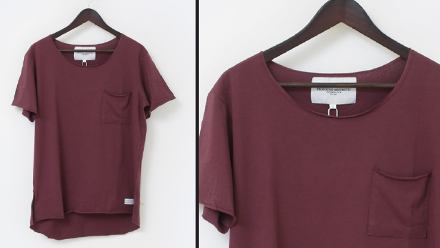 Basic Raw Cut Elongated Short Sleeve Tee