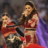 Selena Gomez performs during the halftime show during a Thanksgiving Day NFL football game between the Oakland Raiders and the Dallas Cowboys