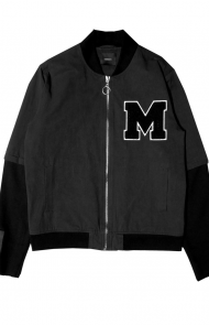 Layered Varsity Jacket
