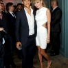 Actor Brenton Thwaites (L) and singer Taylor Swift at the Grey Goose vodka party for The Weinstein Company