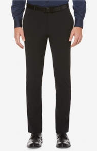 Slim-Fit Machine Washable Dress Pants by Perry Ellis