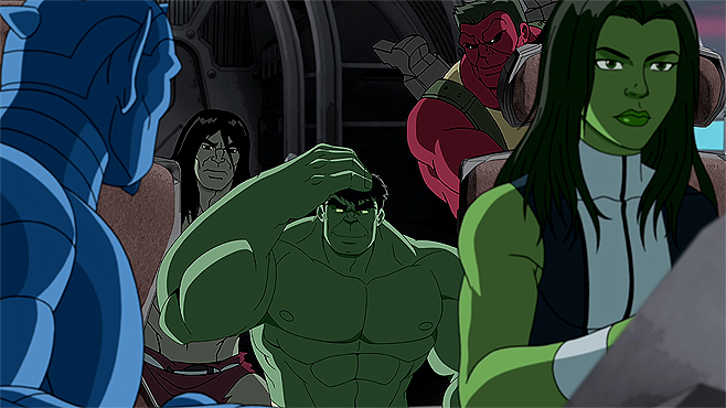 Keep the Green girl hulk naked right!