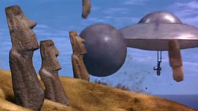 Mars Attacks Easter Island