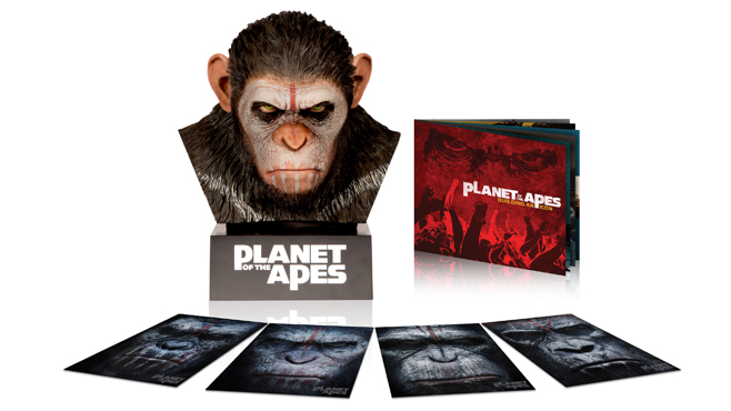 Caesar's Warrior Collection Comic-Con 2014 Dawn of the Planet of the Apes Blu-ray