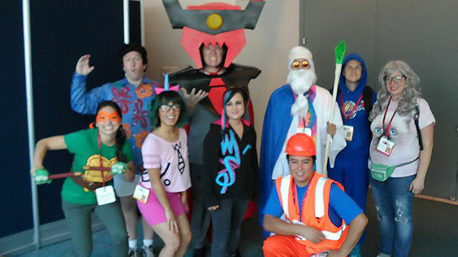 The Lego Movie Cosplayers Comic-Con 2014