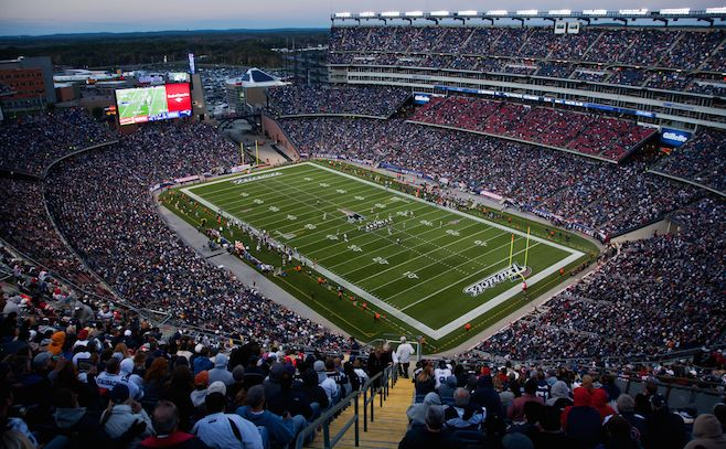 Gillette Stadium, home of NFL Super Bowl champs, New England Patriots