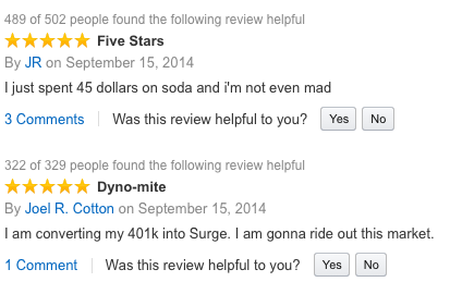 Surge is Back but These Hilarious Amazon Customer Reviews are the Real Treat - Mandatory