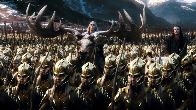 The Hobbit The Battle of the Five Armies Lee Pace Luke Evans Moose