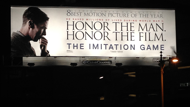 The Imitation Game Oscar Campaign Billboards Honor the Man Honor the Film