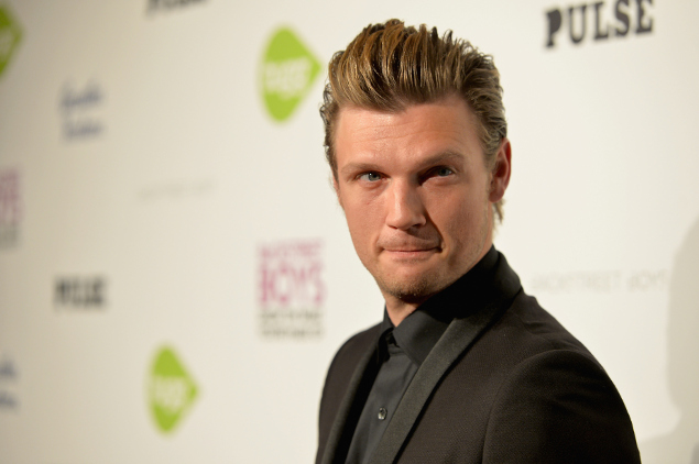 Nick Carter crying