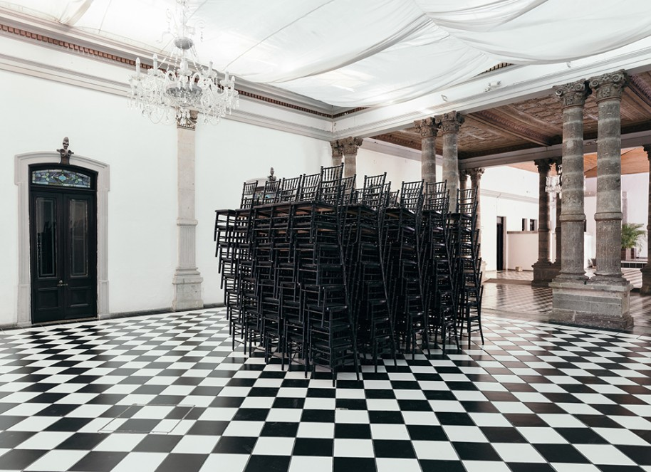 "Carmen Argote, ""Black Chairs"" (2015)"