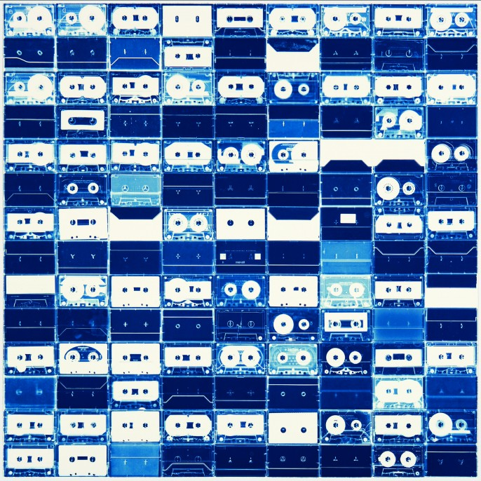 Christian Marclay (usa, born 1955) Large Cassette Grid No. 6, 2009 cyanotype, 97.8 × 99.0 cm University of South Florida Contemporary Art Museum, Tampa