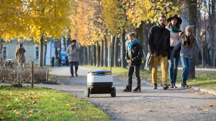 Starship Technologies' delivery bots run at 4 miles per hour.