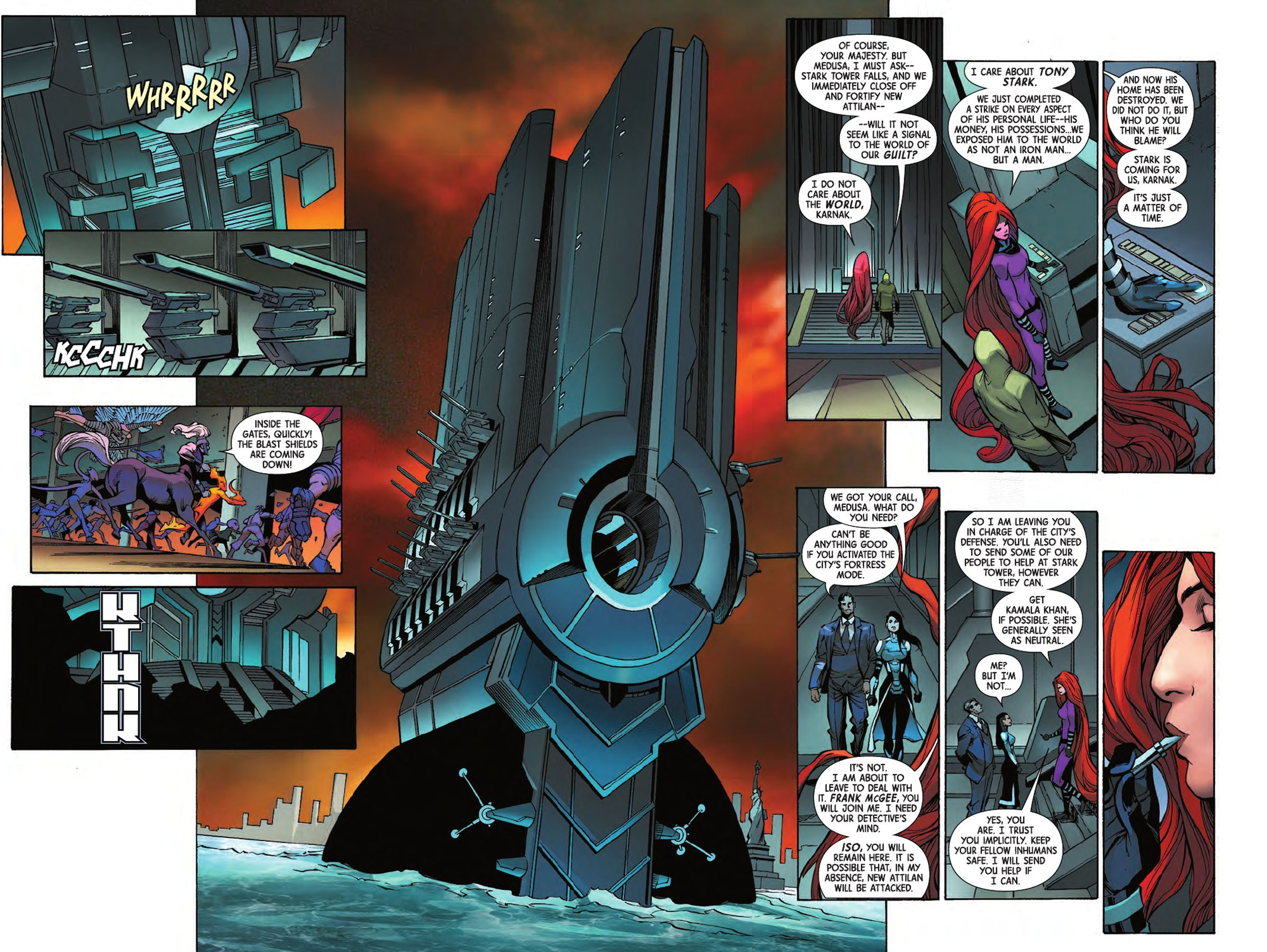 Uncanny Inhumans 12 pages 2 and 3
