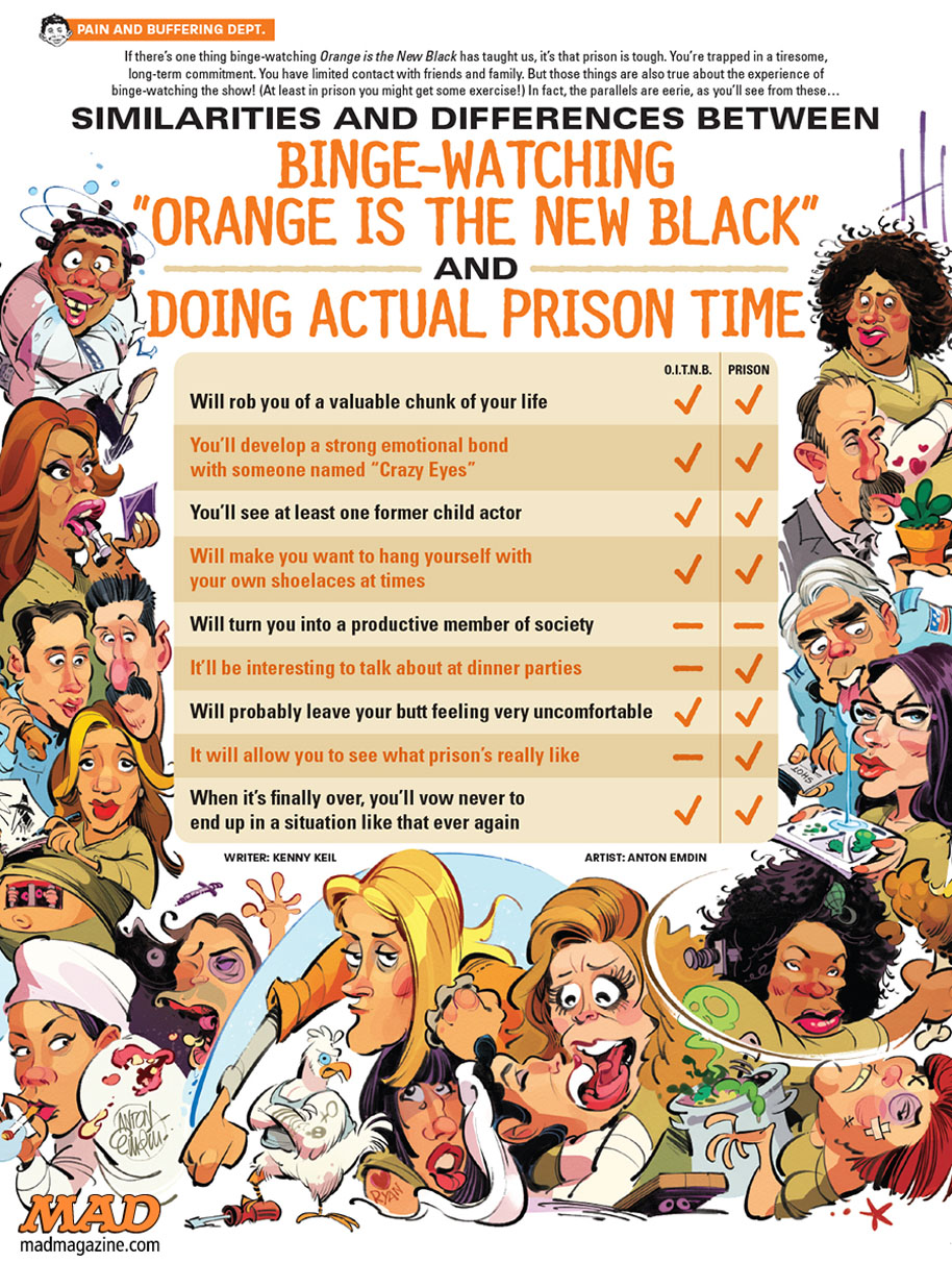 MAD Magazine 541 Orange vs Prison