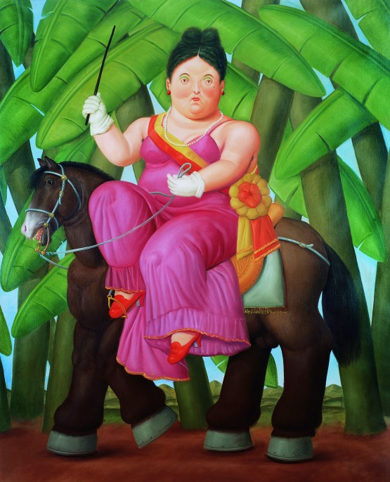 First Lady, 1989, Fernando Botero Oil paint on canvas, 203 x 165 cm