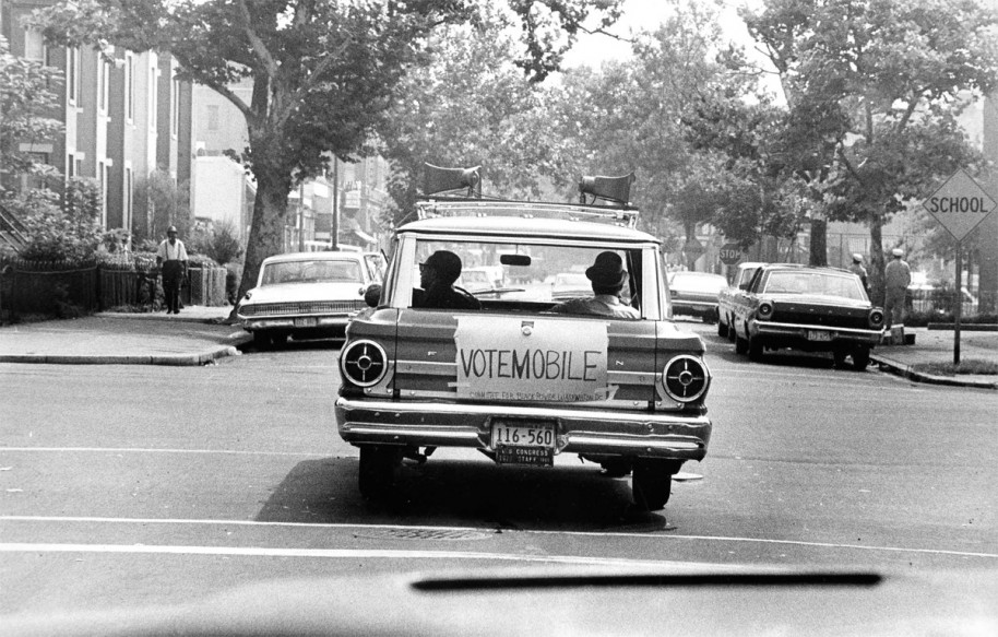 Washington Committee Black Power's Vote mobile, 1967 (Photo courtesy of D.C. Public Library, Washingtoniana Collection - 12 Yrs that Shook & Shaped Washington: 1963-75 Anacostia Community Museum)