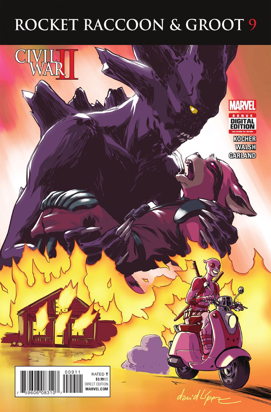 Rocket Raccoon and Groot 9 cover