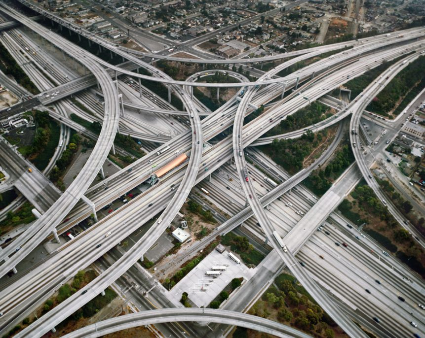 Highway #2, Intersection 105 & 110, Los Angeles, California, USA, 2003