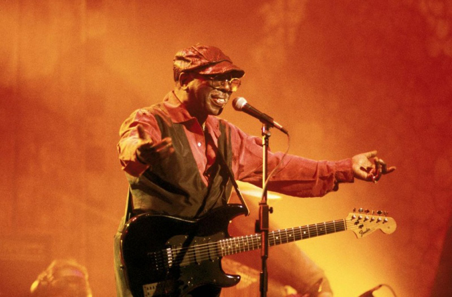 Curtis Mayfield in concert. Courtesy the artist website.