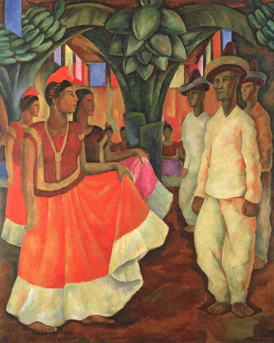Dance in Tehuantepec, 1928, by Diego Rivera (Clarissa and Edgar Bronfman Jr. Collection) © Banco de México Diego Rivera Frida Kahlo Museums Trust, Mexico, D.F./Artists Rights Society (ARS), New York