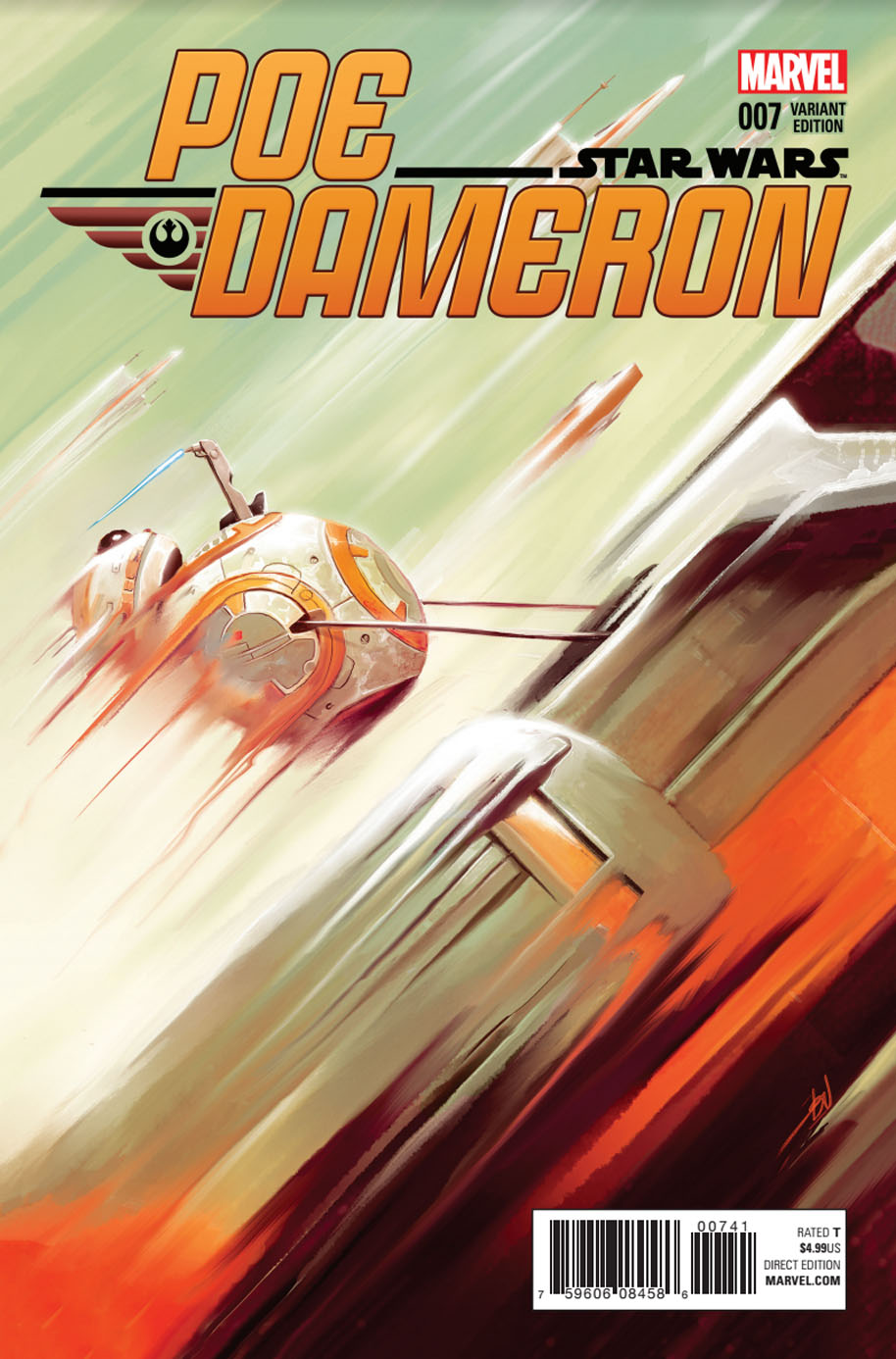 Star Wars Poe Dameron 7 Variant Cover 1