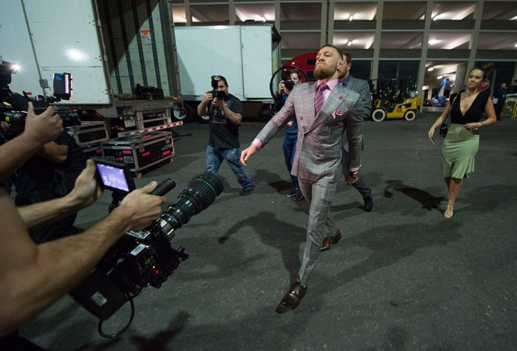Conor McGregor suit strutt