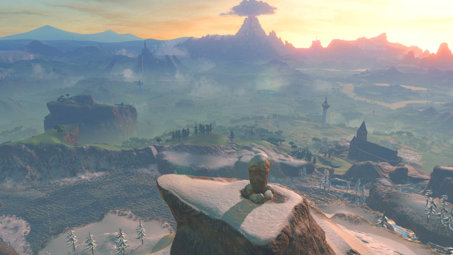 The Legend of Zelda: Breath of the Wild Map Size