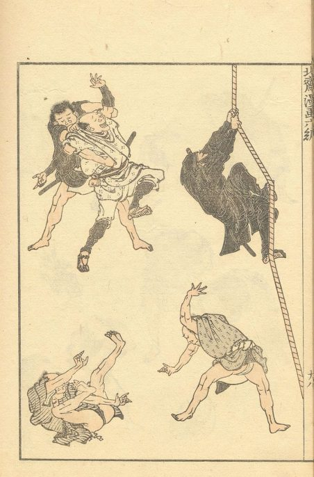 Page from volume 6 of the 15-volume Hokusai Manga (sketches collection), 1814-1878. Artwork: Katsushika Hokusai, courtesy of Wikimedia Commons.
