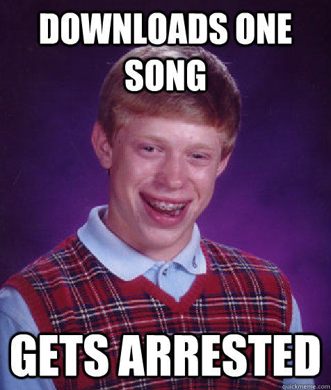 Bad Luck Brian meme one song