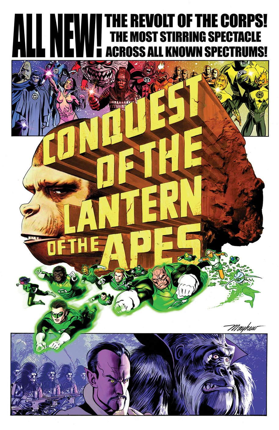 Planet of the Apes Green Lantern 4 Movie Poster Variant Cover B