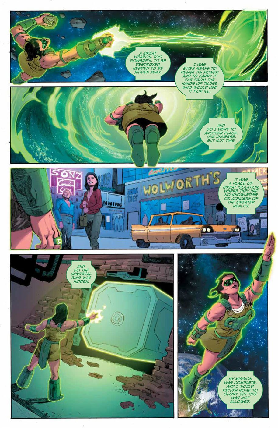 Planet of the Apes Green Lantern 4 page 4