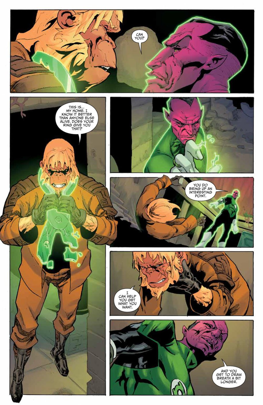 Planet of the Apes Green Lantern 5 page 4