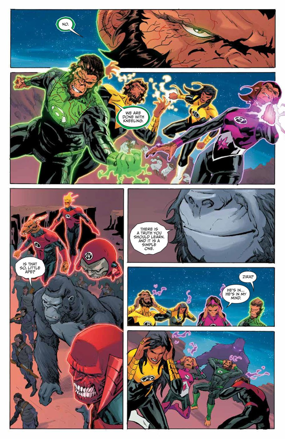 Planet of the Apes Green Lantern 5 page 6
