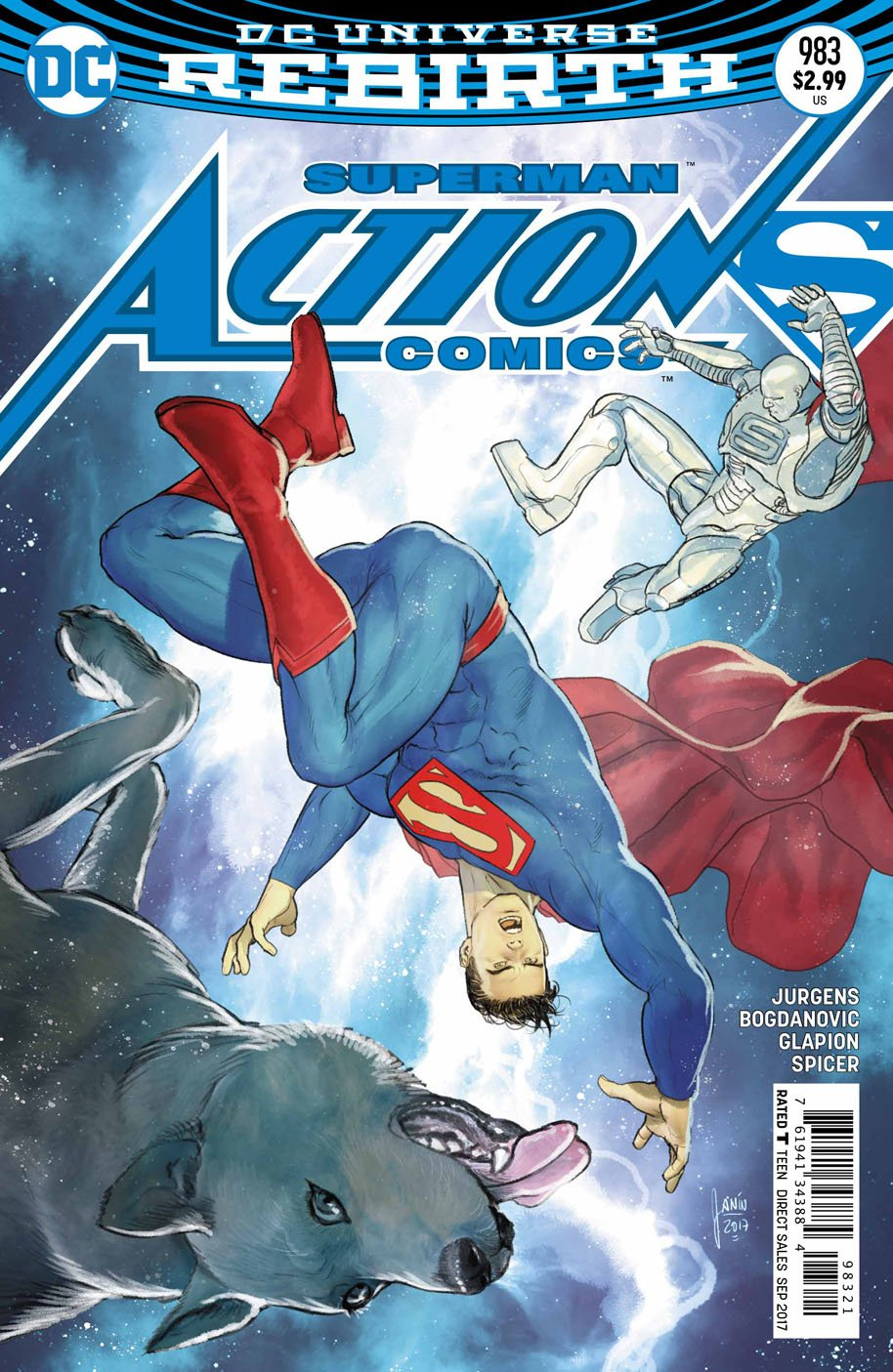 Action Comics 983 open order variant cover