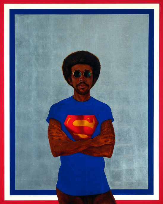 Barkley l. Hendricks, Icon for My Man Superman (Superman Never Saved any Black People--Bobby Seale), 1969. Collection of Liz and Eric Lefkofsky.