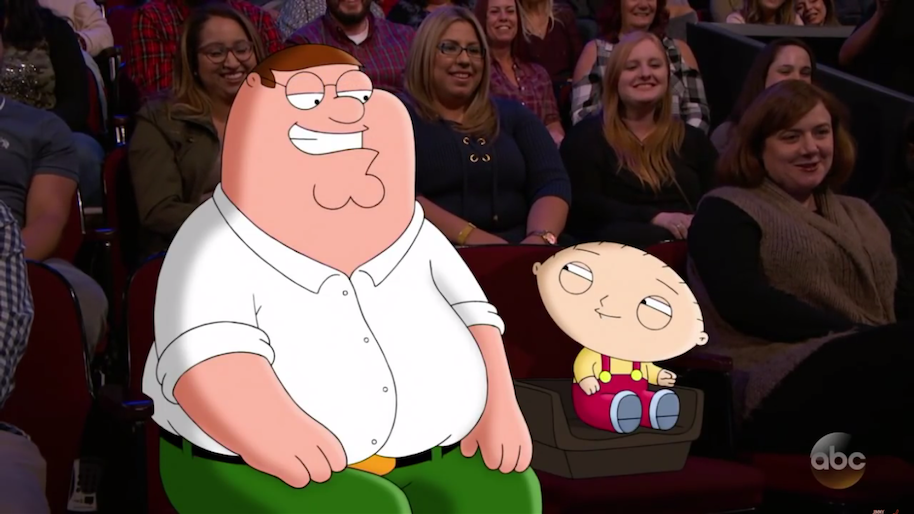 stewie peter jimmy kimmel live 300th episode