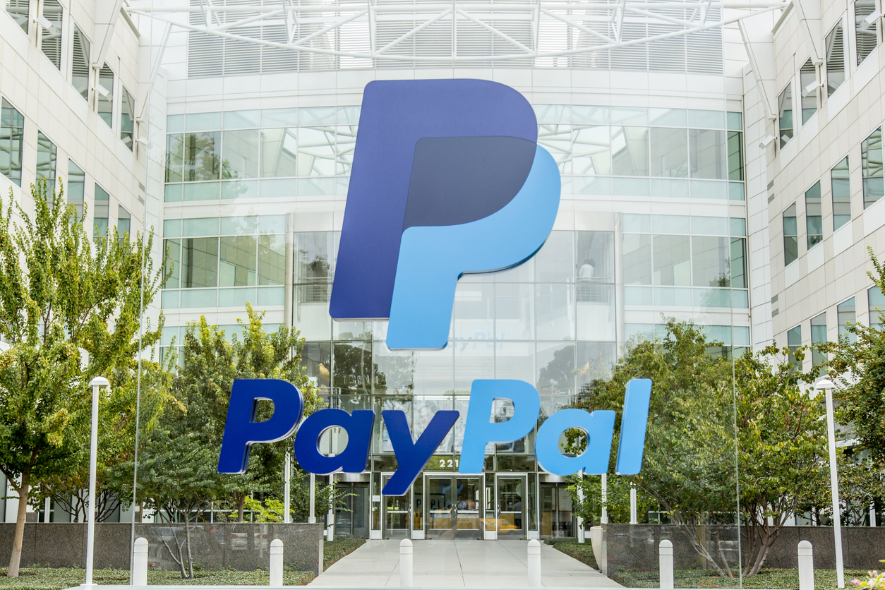 PayPal logo and headquarters
